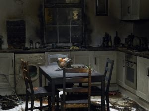 fire damaged kitchen south florida